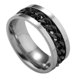 Other - Black Rotatable Chain Stainless Steel Ring